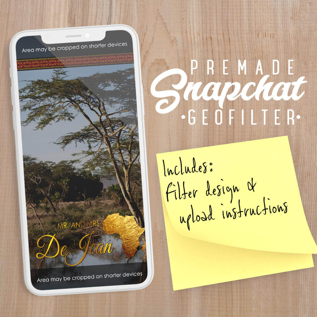 PREMADE Africa Theme Wedding Snapchat Filter