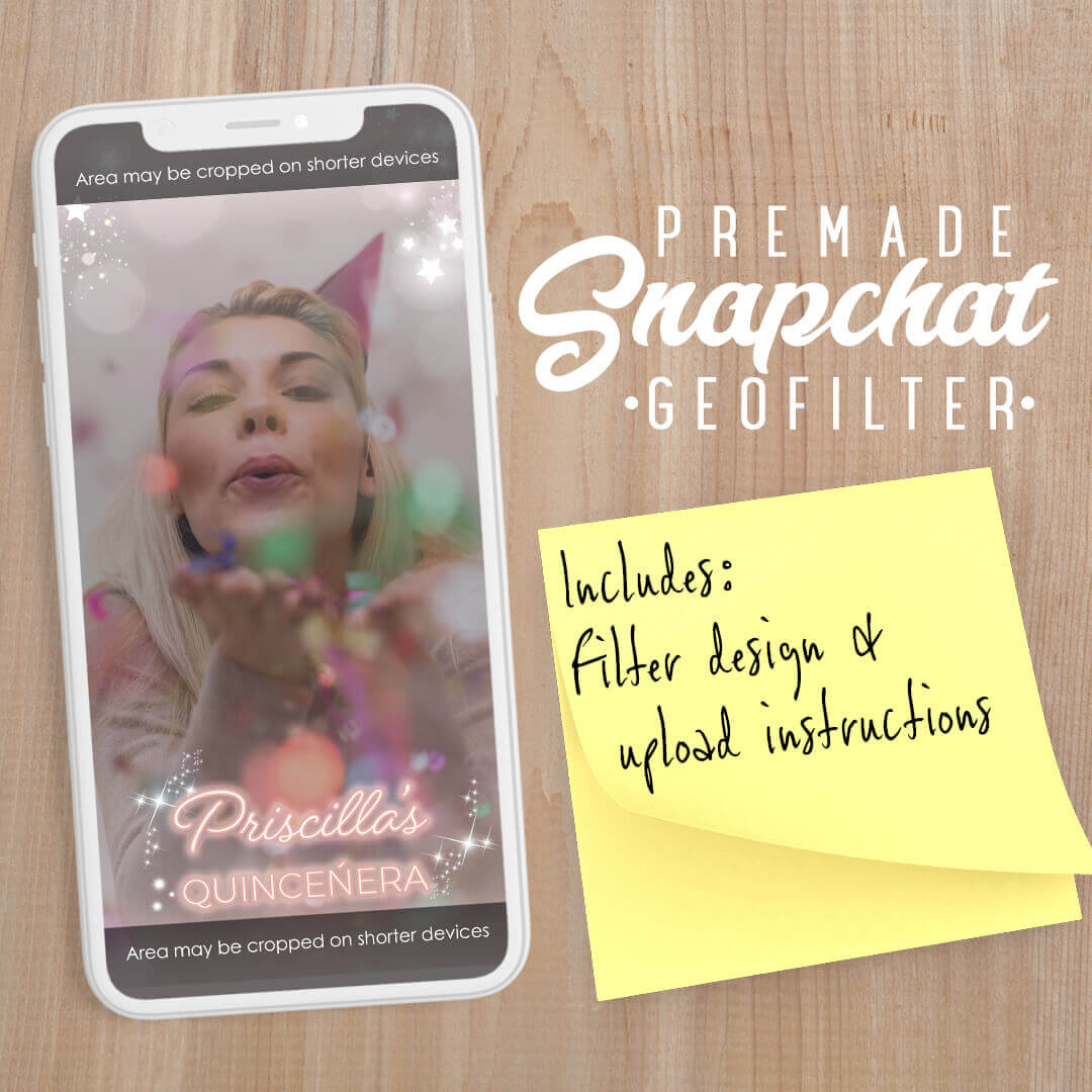 PREMADE Blush Pink & Gold Snapchat Filter
