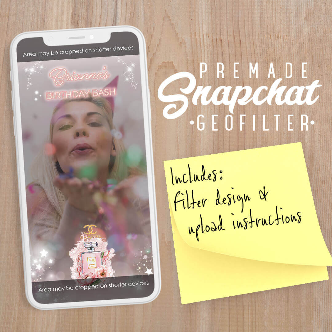 PREMADE Coco Chanel Perfume Snapchat Filter