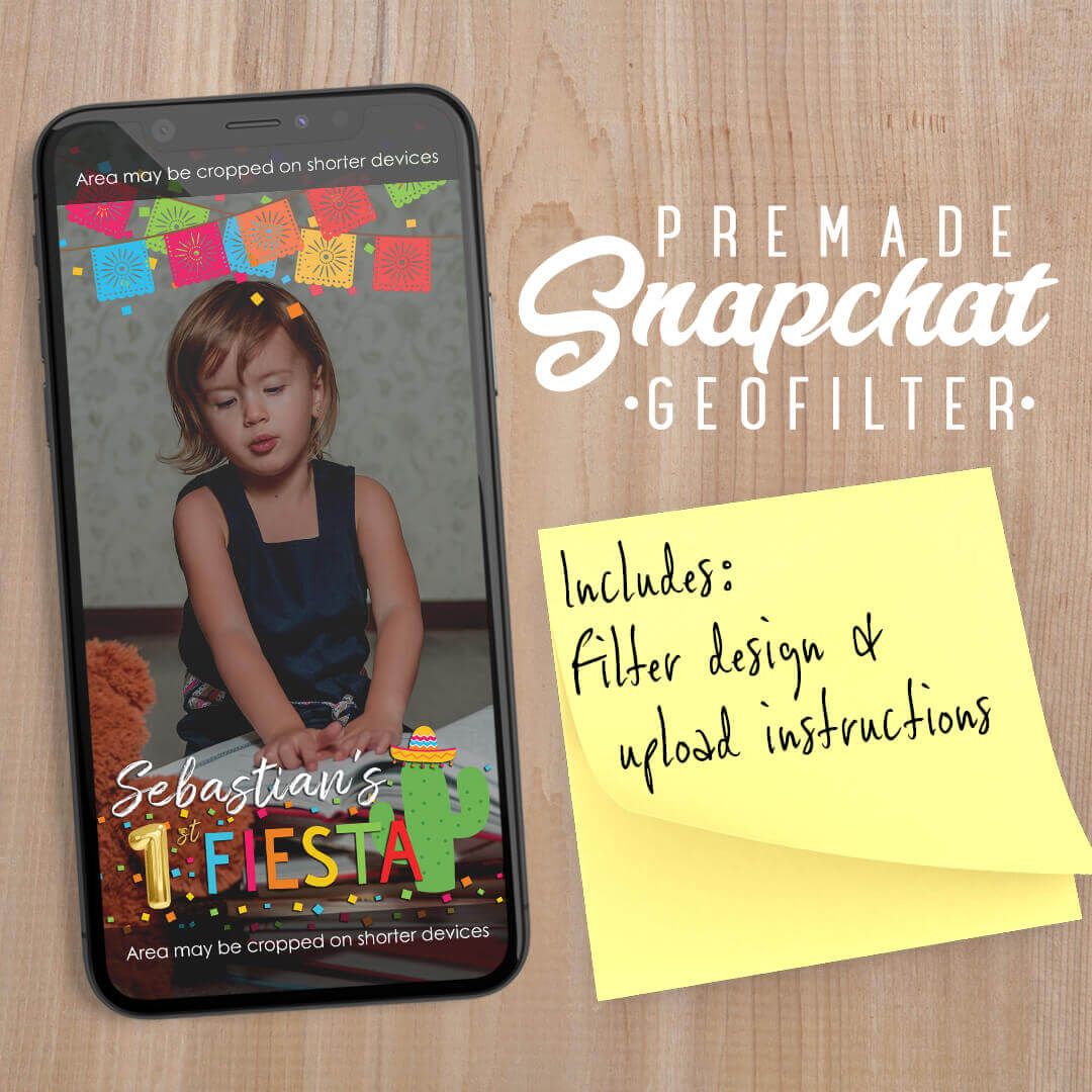 PREMADE Fiesta Theme Birthday Party Snapchat Filter