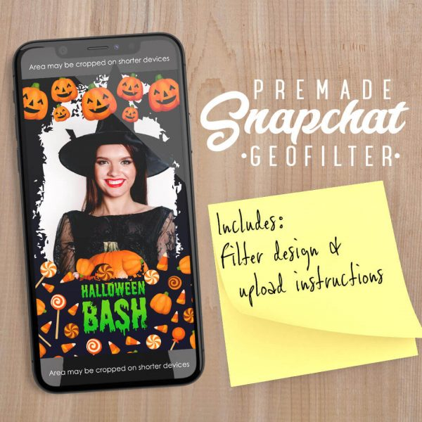 PREMADE Halloween Pumpkin & Candy Snapchat Filter