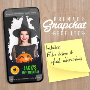PREMADE Halloween Witch Snapchat Filter