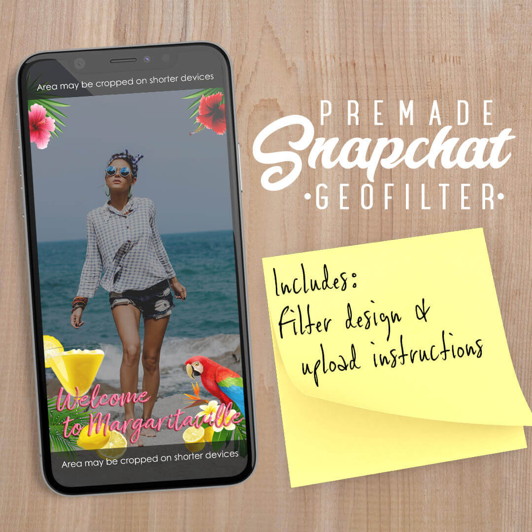 PREMADE Hawaiian Margarita Snapchat Filter