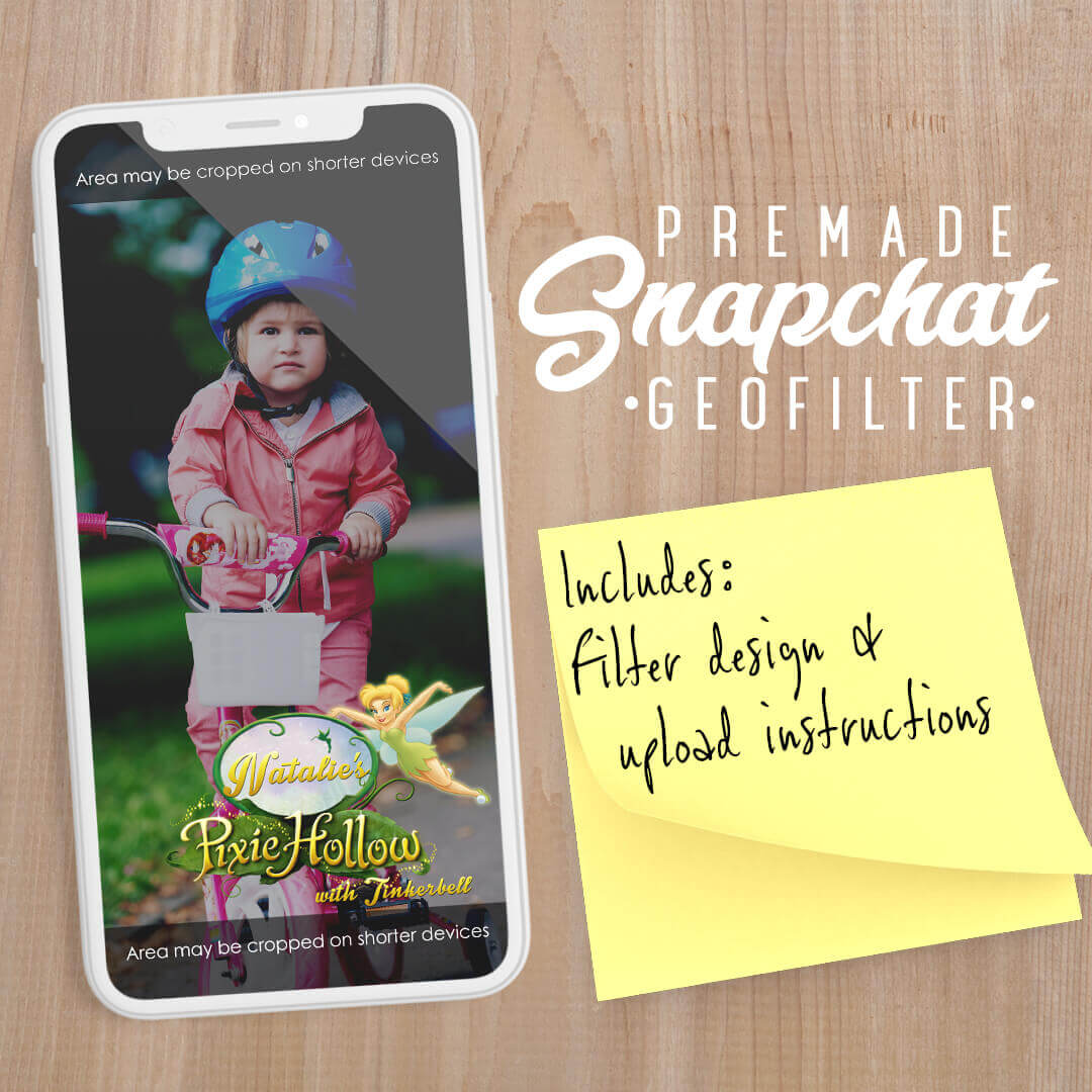 PREMADE Pixie Hollow Snapchat Filter