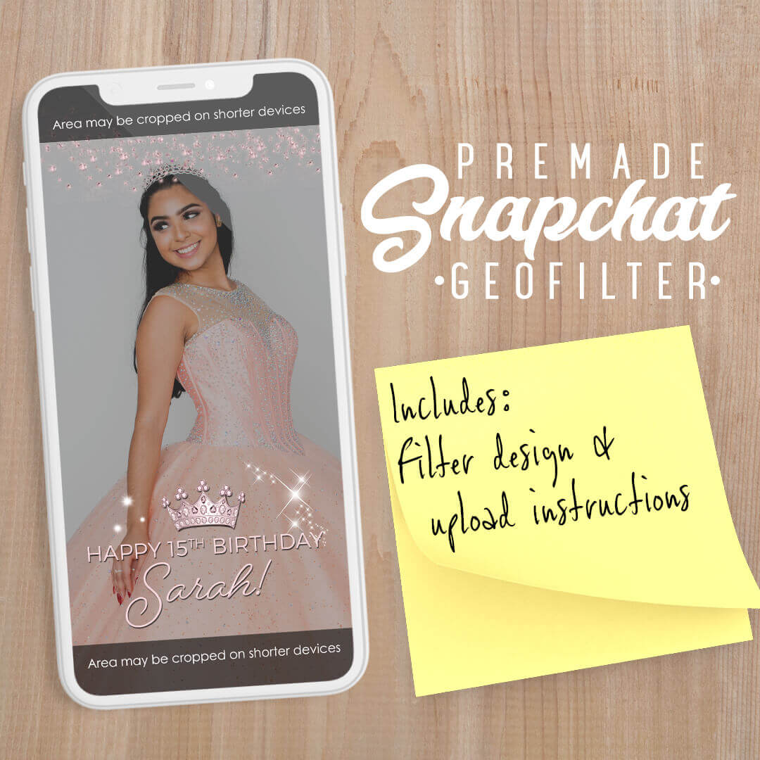 PREMADE Princess Theme Birthday Party Snapchat Filter