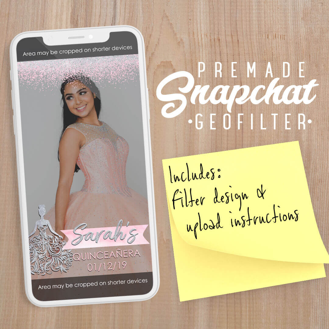 PREMADE Quinceañera Dress Snapchat Filter