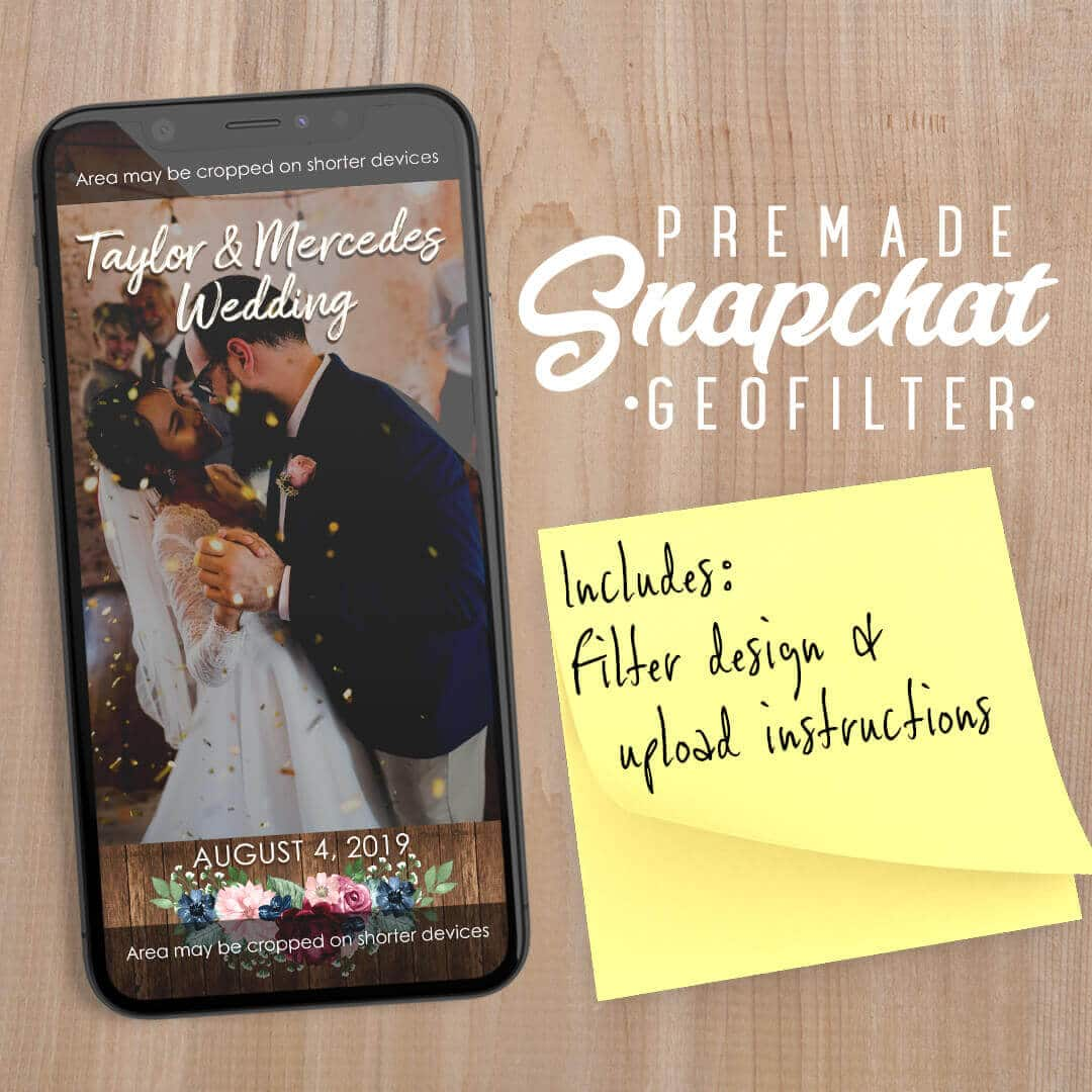 PREMADE Rustic Theme Wedding Snapchat Filter