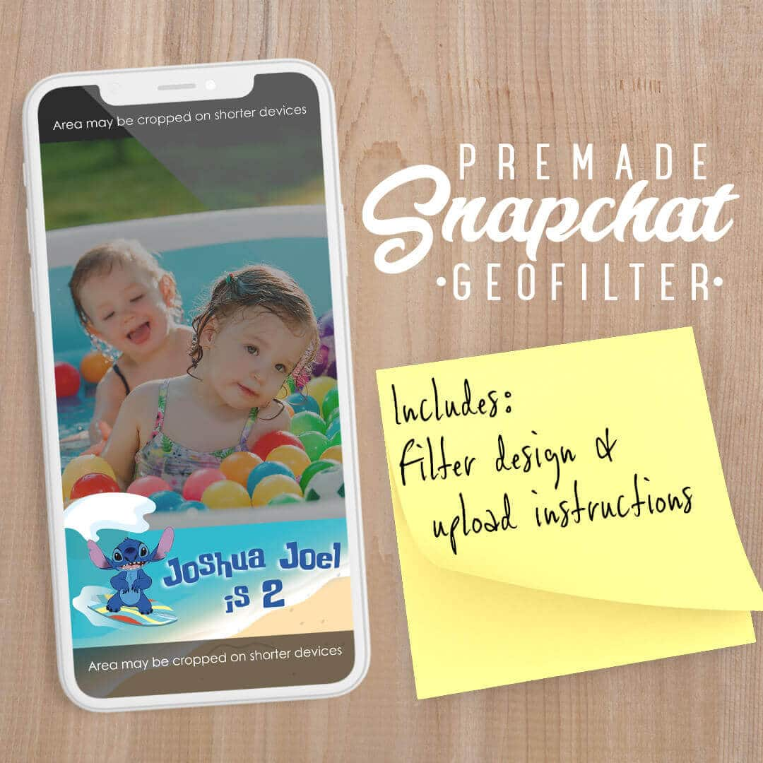 PREMADE Lilo & Stich Surfs Up Snapchat Filter