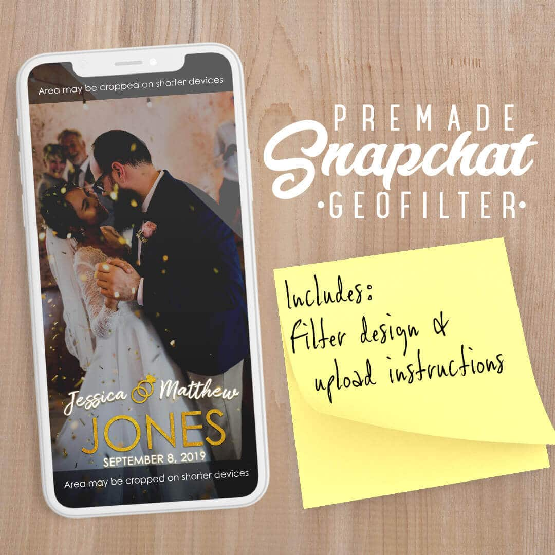 PREMADE Wedding Snapchat Filter