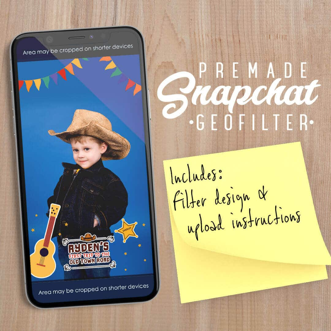 PREMADE Western Sheriff Theme Snapchat Filter