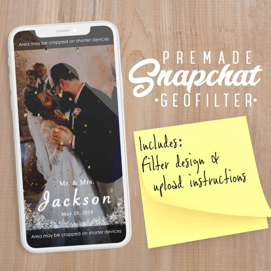 PREMADE Winter Wedding Snapchat Filter