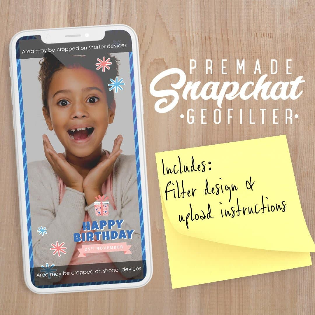 PREMADE Winter Wonderland Birthday Snapchat Filter