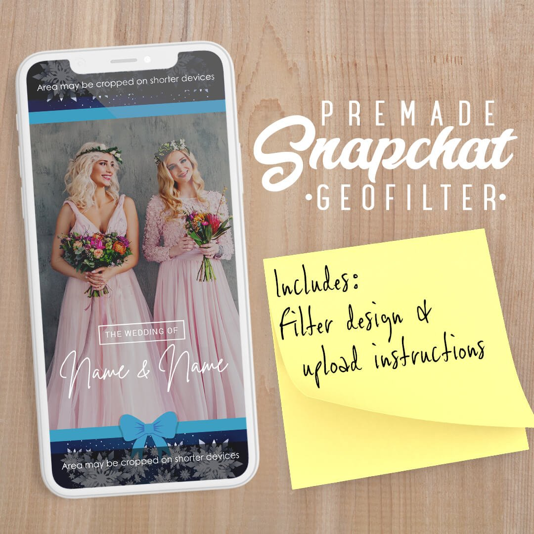 PREMADE Winter Wonderland Wedding Snapchat Filter
